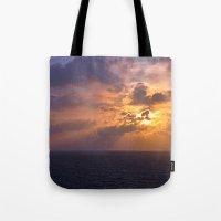 Sunrise At Sea Tote Bag