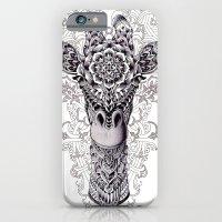 giraffe iPhone & iPod Cases featuring Giraffe by BIOWORKZ