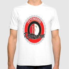 Feyenoord chain Rotterdam crest SMALL White Mens Fitted Tee