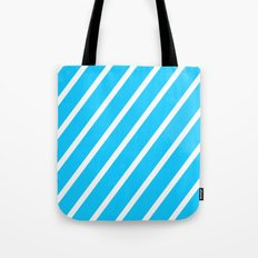 Blue & White Stripes Tote Bag