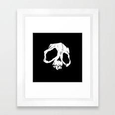 Ghoul Skull Framed Art Print