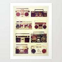 Analog Love: Boom Art Print