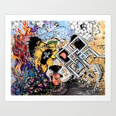 Dizzy Panda Art Print