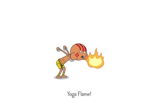 Yoga Flame! Canvas Print