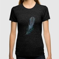 Feather - Enjoy the difference! Womens Fitted Tee Tri-Black SMALL