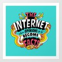 The Internet. Art Print