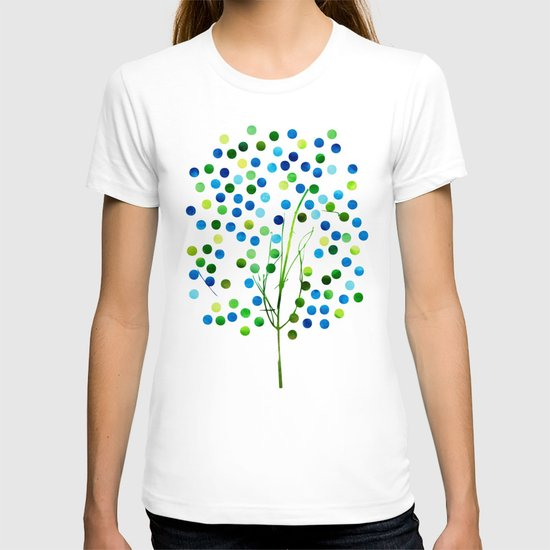 Tree of Life_Aqua by Jacqueline and Garima T-shirt