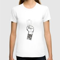 Make Peace... Womens Fitted Tee White SMALL