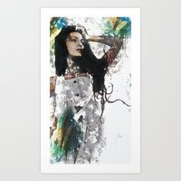 Wonder Abstract Portrait Art Print