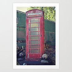 Old Telephone Booth Art Print