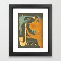 Monsters of Jazz Framed Art Print