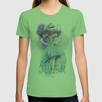 God Save McQueen Womens Fitted Tee Grass SMALL