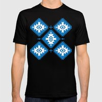 NavNa Blue Mens Fitted Tee Black SMALL