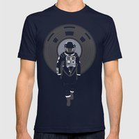 DJ HAL 9000 Mens Fitted Tee Navy SMALL