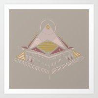 Pyramids 4 Art Print
