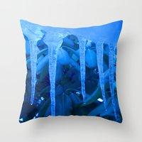 Blue Melody Throw Pillow