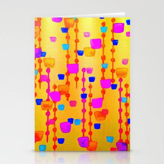 POLKA DOT MATRIX - Bright Bold Cheerful Dotty Geometric Squares Circles Abstract Watercolor Painting Stationery Card