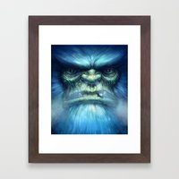 Abominable Snowman Framed Art Print