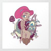 Babes&Monsters Art Print