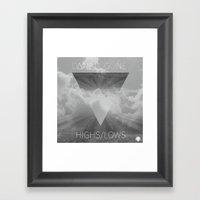 Highs//Lows Framed Art Print