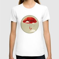 Umbrella Womens Fitted Tee White SMALL