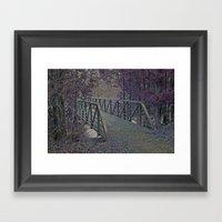 Just A Bridge Framed Art Print