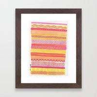 Tribal#1 (Orange/Pink/Ye… Framed Art Print