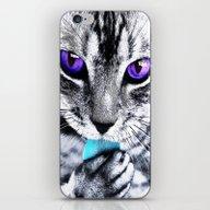 Purple Eyes Cat iPhone & iPod Skin