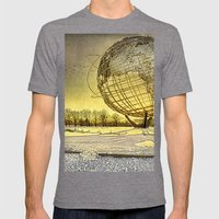 Unisphere Sunset Mens Fitted Tee Tri-Grey SMALL
