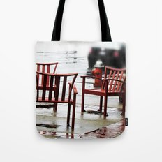 Chairs Arranged in the Rain Tote Bag