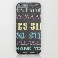 iPhone & iPod Case featuring Yes Ma'am No Ma'am by Jason Michael