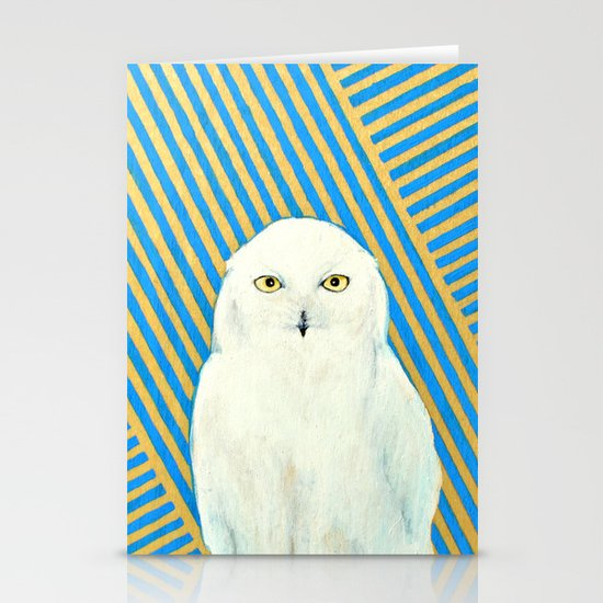 Chester the Owl Stationery Card