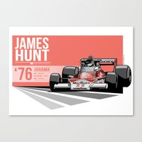 James Hunt - 1976 Jarama Canvas Print