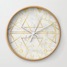 wire gOld triangle Wall Clock