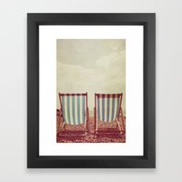 Deck Chairs Framed Art Print