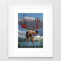 The Tourists Framed Art Print