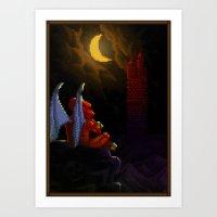 Pixel Art Series 4 : Dem… Art Print