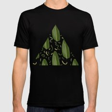 Marching leaves SMALL Mens Fitted Tee Black