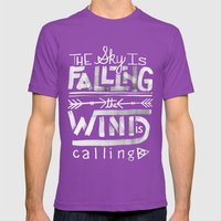 Falling Mens Fitted Tee Ultraviolet SMALL