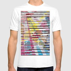 Lines 5 Mens Fitted Tee White SMALL