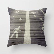 Brooklyn Bridge Footpath Throw Pillow