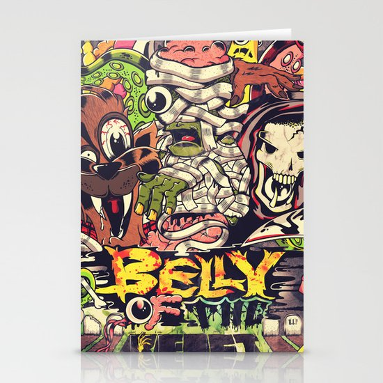 Belly of the beast Stationery Card