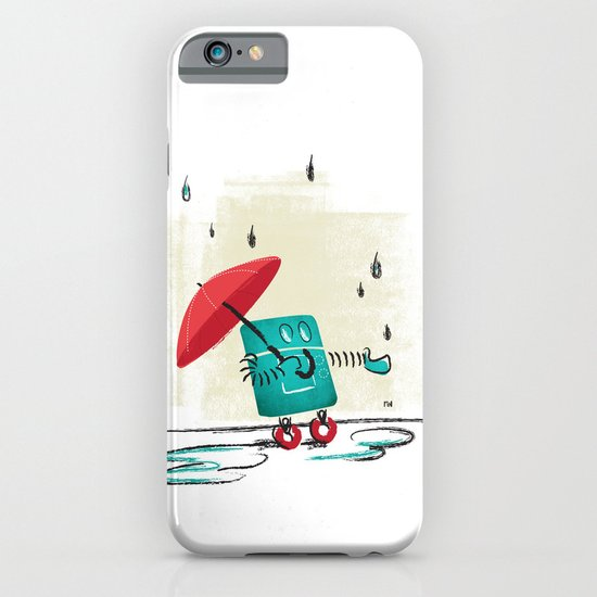 Rain is Bad for Robots iPhone & iPod Case