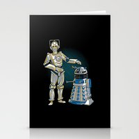 Cyber3PO And R2Dalek Stationery Cards