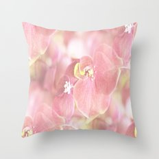 Some Soft Pink Flowers Throw Pillow