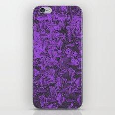 Industrial Metal Texture Purple iPhone & iPod Skin