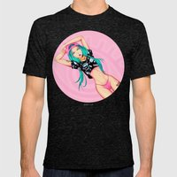 Lolipopgirl Mens Fitted Tee Tri-Black SMALL