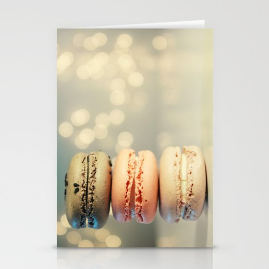 neapolitan macarons Stationery Card