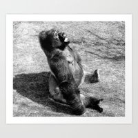 Sun Bathing Art Print