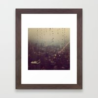 Urban Rainstorm Framed Art Print